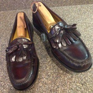 Cole Haan Burgundy Leather Pinch Tassel Loafer 9.5